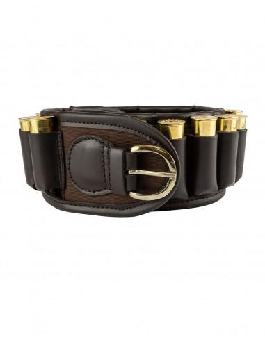 JP Canvas Cartridge Belt Brown
