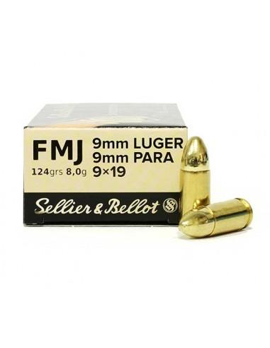Amunicja kulowa S&B 9mm Luger FMJ 8g...